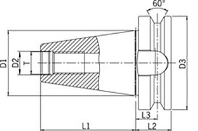 BT tool holder thick flange