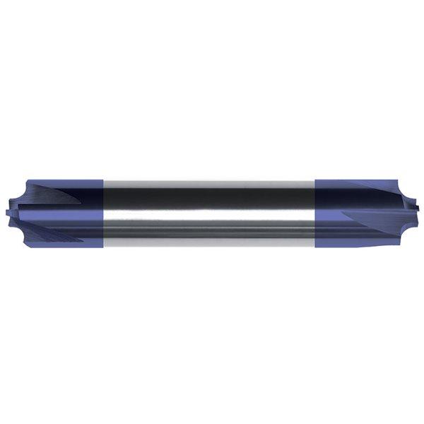 RE21416 Single End Corner Radius Carbide End Mill ZrN Coated 3.0000 OAL RedLine Tools Round Shank Type 3 Flute 1.2500 LOC .0200 Radius .2500 1//4